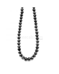 1 Line - 156.99 ct. - Black Diamond Faceted Beads - 6.20 to 7.00 mm - 15 in. (AABDIA1069)