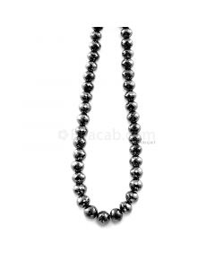 1 Line - 203.56 ct. - Black Diamond Faceted Beads - 7.00 to 8.30 mm - 15 in. (AABDIA1073)