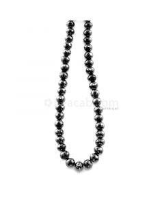 1 Line - 206.22 ct. - Black Diamond Faceted Beads - 6.90 to 8.20 mm - 15.25 in. (AABDIA1074)