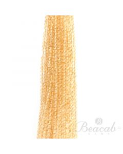 20 Lines of Light Yellow Citrine Plain Beads - 4.5 to 6 mm - 15 in. (CITSB1008)