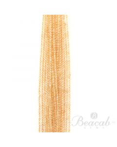 20 Lines of Light Yellow Citrine Plain Beads - 3.50 mm - 15 in. (CITSB1010)