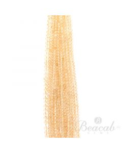 20 Lines of Light Yellow Citrine Plain Beads - 4 to 6 mm - 15 in. (CITSB1012)