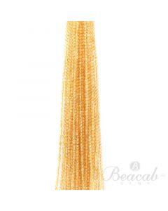 31 Lines of Medium Yellow Citrine Plain Beads - 4.50 mm - 15 in. (CITSB1017)