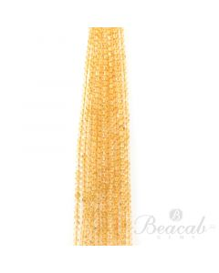 15 Lines of Medium Yellow Citrine Plain Beads - 5.50 mm - 15 in. (CITSB1019)