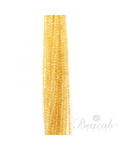21 Lines of Medium Yellow Citrine Plain Beads - 5 mm - 15 in. (CITSB1020)