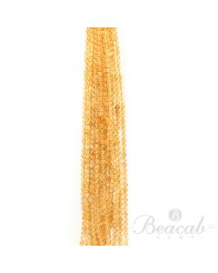 13 Lines of Medium Yellow Citrine Plain Beads - 5.30 to 5.50 mm - 15 in. (CITSB1023)