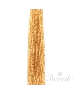 21 Lines of Medium Yellow Citrine Plain Beads - 4 mm - 15 in. (CITSB1031)