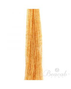 25 Lines of Medium Yellow Citrine Plain Beads - 4 to 4.50 mm - 15 in. (CITSB1034)