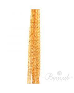 9 Lines of Dark Yellow Citrine Plain Beads - 4.50 mm - 15 in. (CITSB1037)