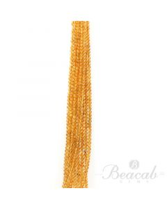 10 Lines of Dark Yellow Citrine Plain Beads - 4.5 to 5 mm - 15 in. (CITSB1039)