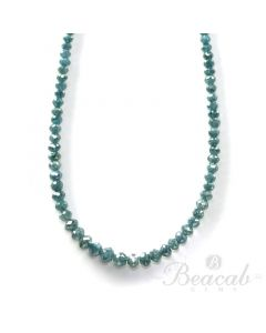 1 Line - 19.11 ct. - Blue Diamond Faceted Beads - 1.5 to 3.5 mm - 15 in. (BLUDB1023)