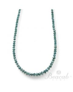 1 Line - 19.22 ct. - Blue Diamond Faceted Beads - 1.5 to 3.5 mm - 15 in. (BLUDB1026)