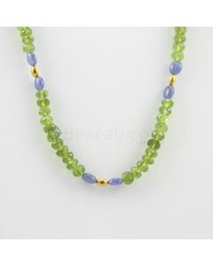 6.50 to 7 mm - 1 Line - Peridot Faceted Beads Necklace - 146.00 carats (CSNKL1119)