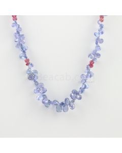 4 to 7 mm - 1 Line - Tanzanite Drops Necklace  - 87.50 carats (CSNKL1122)