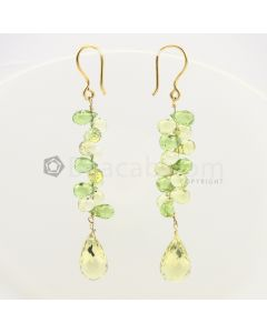 7 to 13 mm - Citrine Drop Earrings - 35.14 carats (CSEarr1016)
