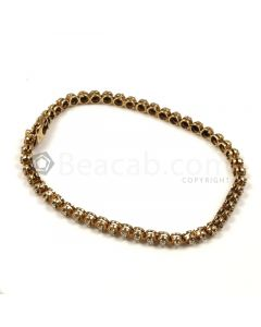 Round Shape White Diamond Bracelet in 14kt Yellow Gold - 7.2 grams - EST1367