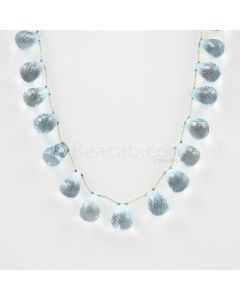 6.50 to 11 mm - Medium Blue Aquamarine Drops - 111.00 carats (AqDr1007)