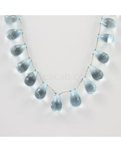 12 to 13 mm - Medium Blue Aquamarine Drops - 114.50 carats (AqDr1014)