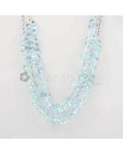 8 to 10 mm - Medium Blue Aquamarine Drops - 227.00 carats (AqDr1018)