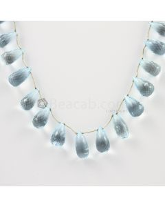 12 to 15 mm - Medium Blue Aquamarine Drops - 116.00 carats (AqDr1020)