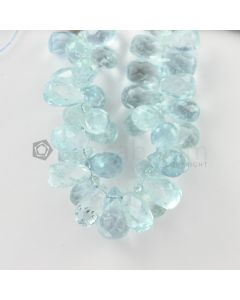 10 to 14 mm - Medium Blue Aquamarine Drops - 109.00 carats (AqDr1039)