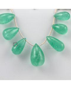 18 to 22 mm - Medium Green Emerald Drops - 90.50 carats (EDr1016)