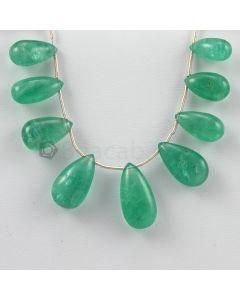 15 to 20 mm  - Medium Green Emerald Drops - 62.00 carats (EDr1017)