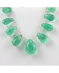 14 to 22 mm - Medium Green Emerald Drops - 107.00 carats (EDr1018)
