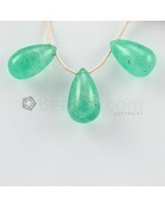 17 to 18 mm - Medium Green Emerald Drops - 35.00 carats (EDr1019)