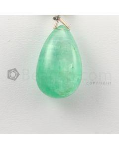 25 mm - Medium Green Emerald Drops - 37.00 carats (EDr1024)