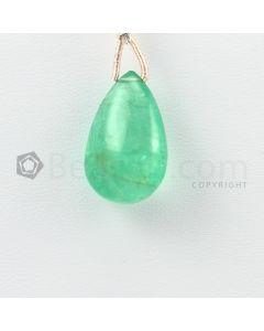 19.50 mm - Medium Green Emerald Drops - 13.50 carats (EDr1032)