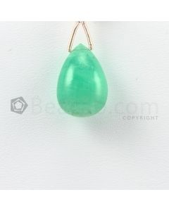 18 mm - Medium Green Emerald Drops - 14.50 carats (EDr1035)