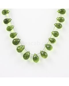 9 to 11 mm - Medium Green Peridot Faceted Drops - 30.00 carats (PDr1005)