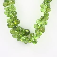 11 to 12 mm - Medium Green Peridot Faceted Drops - 425.00 carats (PDr1021)