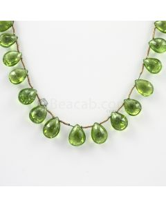 9 to 12 mm - Medium Green Peridot Faceted Drops - 88.50 carats (PDr1026)