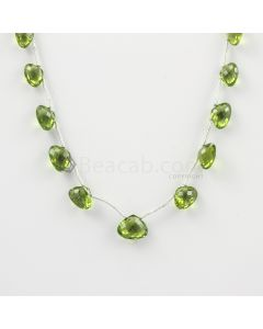 5 to 8 mm - Medium Green Peridot Faceted Drops - 24.00 carats (PDr1027)