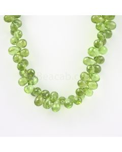 9 to 9.50 mm - Medium Green Peridot Faceted Drops - 192.00 carats (PDr1030)