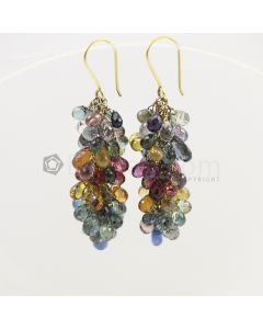 4 to 5 mm - Multi-Sapphire Drop Earrings - 85.50 carats (CSEarr1001)