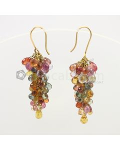 3 to 4 mm - Multi-Sapphire Drop Earrings - 48.15 carats (CSEarr1007)