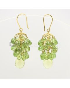 6 to 15 mm - Peridot Drop Earrings - 69.15 carats (CSEarr1017)