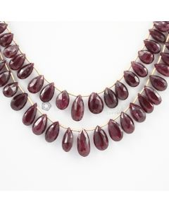 6 to 13 mm - 2 Lines - Ruby Drops - 121.90 carats (RDr1005)