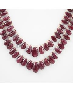 7.50 to 14.50 mm - 2 Lines - Ruby Drops - 168.25 carats (RDr1007)