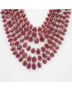 5.50 to 11 mm - 6 Lines - Ruby Drops - 290.10 carats (RDr1011)