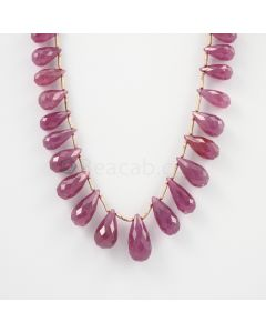 10 to 18 mm - 1 Line - Ruby Drops - 153.00 carats (RDr1024)