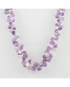8 to 9 mm - 1 Line - Amethyst Drops Necklace  - 251.00 carats (CSNKL1134)