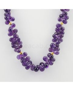 8.50 to 10 mm - 1 Line - Amethyst Drops Necklace  - 320.00 carats (CSNKL1135)