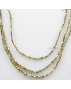 Fancy Diamond Cube Beads - 3 Lines - 76.34 carats (FncyDiaCu1004)