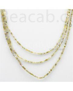 Fancy Diamond Cube Beads - 3 Lines - 46.94 carats (FncyDiaCu1006)