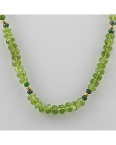 Peridot Faceted - 1 Line - 139.00 carats - 14 inches - (CSNKL1004)