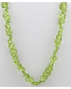 Peridot Faceted - 1 Line - 202.50 carats - 16 inches - (CSNKL1011)
